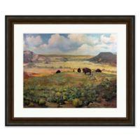Buffalo Landscape 41-Inch x 35-Inch Framed Print Wall Art