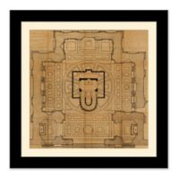 Architectural Plan 1 27.5-Inch Square Framed Wall Art