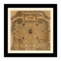 Architectural Plan 2 27.5-Inch Square Framed Wall Art