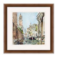 Venice Watercolor 2 27.5-Inch Square Framed Wall Art