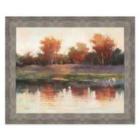Creek Early Morning Light 29.25-Inch x 35.25-Inch Framed Wall Art