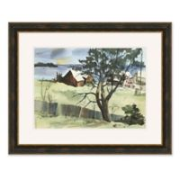 Houses on Lakeside 31.5-Inch x 25.5-Inch Framed Wall Art