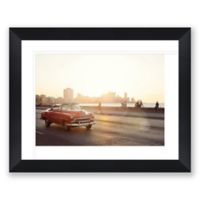 Malecon Sunset 40.25-Inch x 32-Inch Framed Print Wall Art