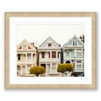 San Francisco Three Victorians 24-Inch x 20-Inch Framed Wall Art
