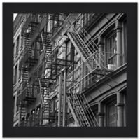 City Façade 1 34.75-Inch Square Framed Wall Art