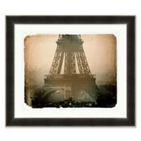 Vintage Eiffel Tower 35.5-Inch x 41.5-Inch Framed Wall Art