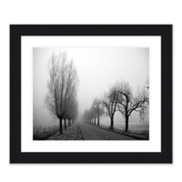 Morning Fog 1 41.25-Inch x 35.25-Inch Framed Wall Art in Black/White