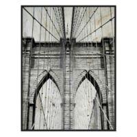 Brooklyn Bridge 33.75-Inch x 43.75-Inch Framed Canvas Wall Art