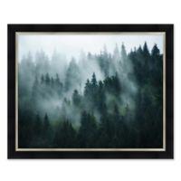Fog Forest 31.5-Inch x 25.5-Inch Paper Framed Print Wall Art