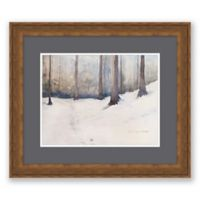Grey Lock Forest Snow Paper Framed Print Wall Art