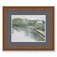 Dock & House 18.25-Inch x 21.25-Inch Framed Wall Art