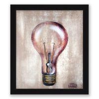 Light Bulb 13.5-Inch x 15.5-Inch Framed Wall Art