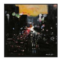 Urban Vibe 43.75-Inch Square Framed Canvas Wall Art