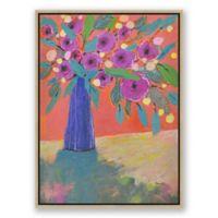 "Spring Peonies 22"" x 30"" Framed Canvas Wall Art"