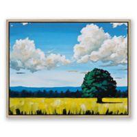 "Lone Tree 18"" x 14"" Framed Canvas Wall Art"