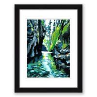 "Oneota Gorge 14.5"" x 17.5"" Paper Framed Print Wall Art"