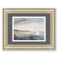 Dusk Moon on Bay 18.5-Inch x 14.5-Inch Framed Wall Art