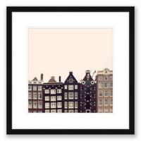 Crooked Buildings 23.5-Inch Square Framed Wall Art