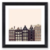 Crooked Buildings 40.25-Inch Square Framed Wall Art