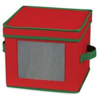 Household Essentials® Holiday Salad Plate/Bowl Storage Box in Red/Green
