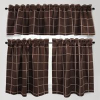 Park B. Smith Durham Square 24-Inch Kitchen Window Curtain Tier Pair in Woodland