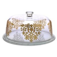 Classic Touch Glim Cake Plate with Dome