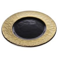 Classic Touch Trophy Charger Plates in Black/Gold (set of 4)