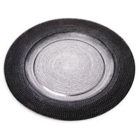 Classic Touch Trophy Celestial Charger Plates in Black/Silver (Set of 4)