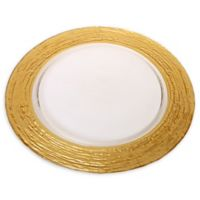 Classic Touch Swirl Gold Charger Plates (Set of 4)