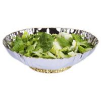 Classic Touch Tervy Crumpled 11-Inch Serving Bowl