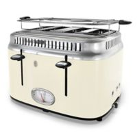 Rusell Hobbs 2-Slice Retro-Style Toaster in Cream/Stainless Steel