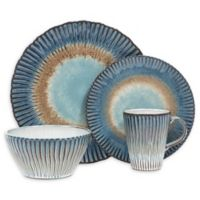 Sango® Portura 16-Piece Dinnerware Set in Blue/Brown