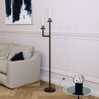 Hudson&canal Basso 2-Light Floor Lamp in Black