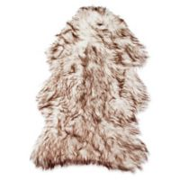 Luxe Faux Fur™ Gordon 2' X 3' Tufted Area Rug in White/brown