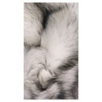 Luxe Faux Fur™ Gordon 2' X 6' Tufted Area Rug in Gradient Grey