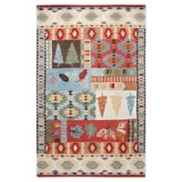 Rizzy Home Nature Patchwork 8' X 10' Tufted Area Rug in Red