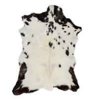 Natural Rugs™ Nat Calfskin 2' X 3' Powerloomed Area Rug in White/black