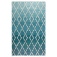Rizzy Home Ombre/lattice 8' X 11' Tufted Area Rug in Teal