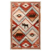 Rizzy Home Animal Diamond 5' X 8' Tufted Area Rug in Red