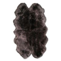 Natural Rugs New Zealand Sheepskin 4' x 6' Area Rug in Chocolate