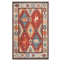 Rizzy Home Animal Patchwork 5' X 8' Tufted Area Rug in Red