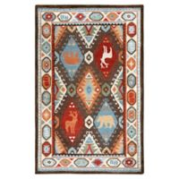 Rizzy Home Animal Patchwork 5' X 8' Tufted Area Rug in Brown
