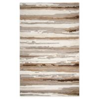 Rizzy Home Abstract Stripes 8' X 10' Tufted Area Rug in Tan