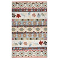 Rizzy Home Multi Stripe 5' X 8' Tufted Area Rug in Beige