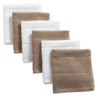 Design Imports 6-Pack Basic Terry Dishcloths in Beige