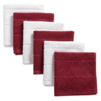 Design Imports 6-Pack Basic Terry Dishcloths in Wine