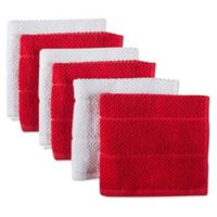 Design Imports 6-Pack Basic Terry Dishcloths in Red