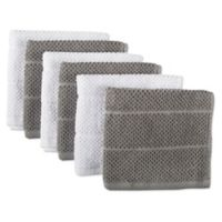 Design Imports 6-Pack Basic Terry Dishcloths in Grey
