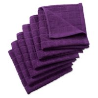 Design Imports 6-Pack Windowpane Dishcloths in Purple
