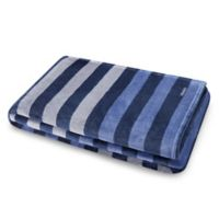 Nautica Sandy Spring Striped Throw in Navy